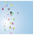 Alphabet abstract background vector