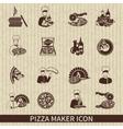 Pizza maker icon black vector