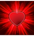 Beating heart background vector