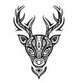 Deer head ethnic pattern vector