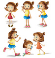 Girls actions vector