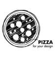 Pizza emblem vector