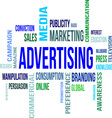 Word cloud advertising vector