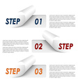 Set of colorful sample steps stickers template vector