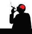 Man with cigar vector
