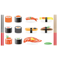 Sushi set icons vector