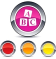 Abc cubes round button vector
