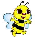 Cute funny bee cartoon vector