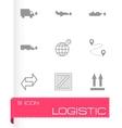 Black logistic icons set vector