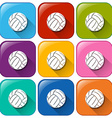 Buttons with balls vector