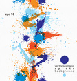 Artistic colorful abstract dirty ink template vector