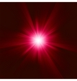 Red star burst background vector