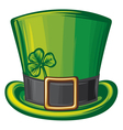 St patrick green hat vector
