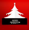 Christmas greeting card with christmas tree vector
