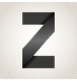 Letter metal ribbon - z vector