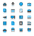 Office supplies flat with reflection icons vector
