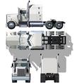 Semi truck illustration vector