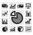 Business chart icons vector