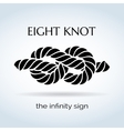 Black and white rope eight knot vector