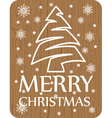 Christmas card on wood background vector