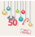 Christmas sale shop poster design vector