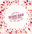 Vintage wine bar list background vector