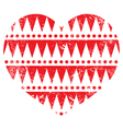 Valentines day card - aztec tribal red heart vector