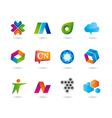 Set logo design and web icons vector