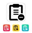 Minus clipboard icon vector