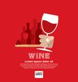 Wine glass in hand eps10 vector