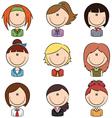 Business female avatar vector