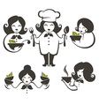 Cooking women vector