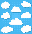 White clouds collection vector