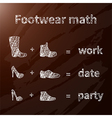 Footwear math vector