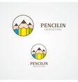 Design pencil logo element vector