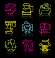 Line icons of power tools vector