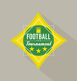 Soccer or football tournament badge vector