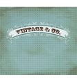 Vintage dot card vector