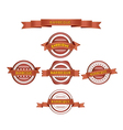 Set of barbeque labels vector