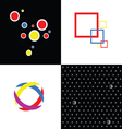 Four abstract symbol vector