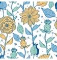 Whimsical flower garden seamless pattern vector