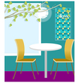 Table for two cafeteria vector