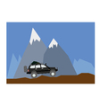 Off road mountain vector