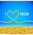 I love pasta background vector