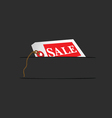 Sale card in pocket vector