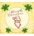 Santa doodle retro card vector