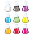 Chemistry flask vector