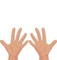 Ten from fingers vector