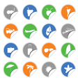 Icon on the stickers color vector