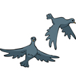 Two doves vector